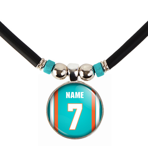 Personalized Miami Dolphins Necklace With Name and Number