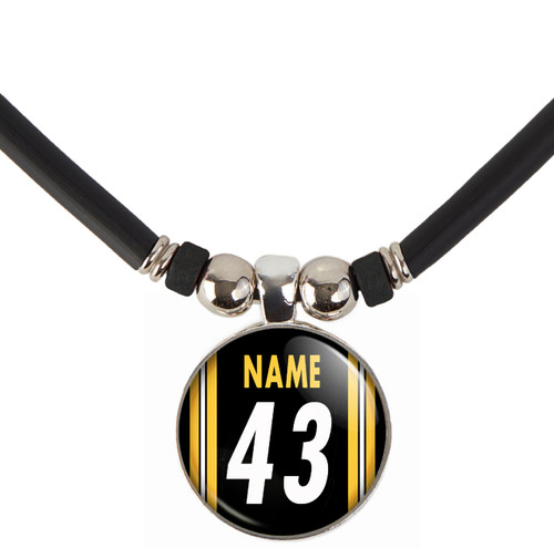 Personalized Pittsburgh Steelers Necklace With Name and Number