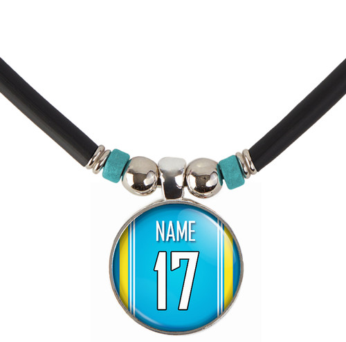 Personalized San Diego/Los Angeles Chargers Necklace With Name and Number