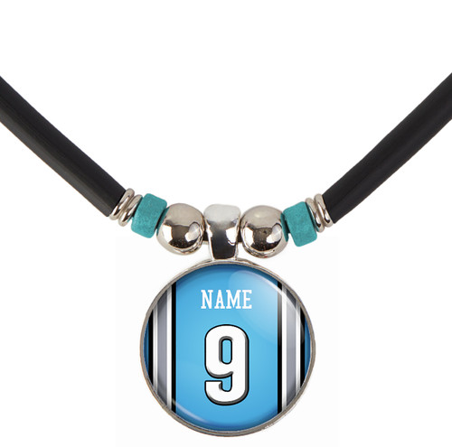 Personalized Chicago Bears Jersey Necklace With Name and Number