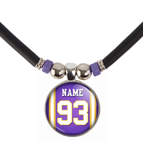 Personalized Minnesota Vikings Jersey Necklace With Name and Number