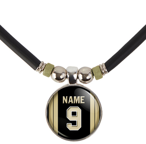 Personalized New Orleans Saints Jersey Necklace With Name and Number