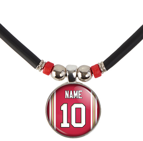 Personalized San Francisco 49ers Jersey Necklace With Name and Number