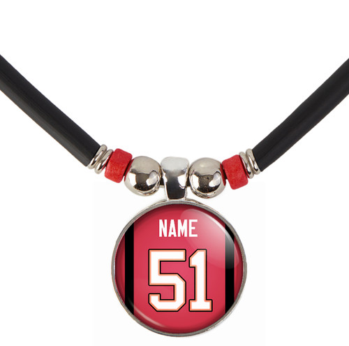 Personalized Tampa Bay Buccaneers Jersey Necklace With Name and Number