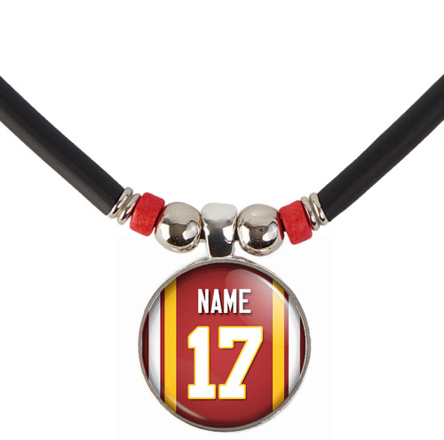 Personalized Washington Redskins Jersey Necklace With Name and Number