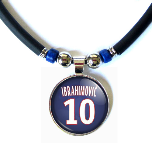 Zlatan Ibrahimovic 3D Glass #10 PSG 2015-2016 Jersey Necklace