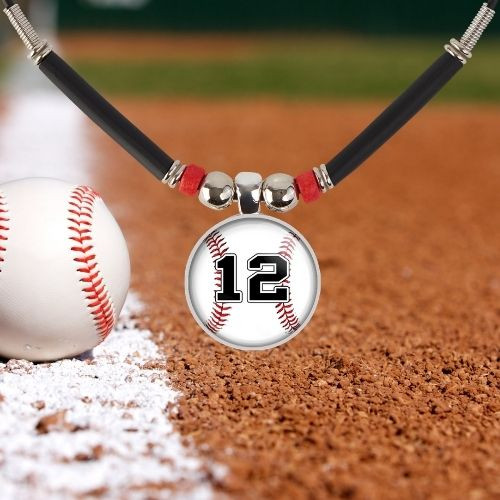 Baseball Charm Necklace For Boys- Baseball Number Necklace