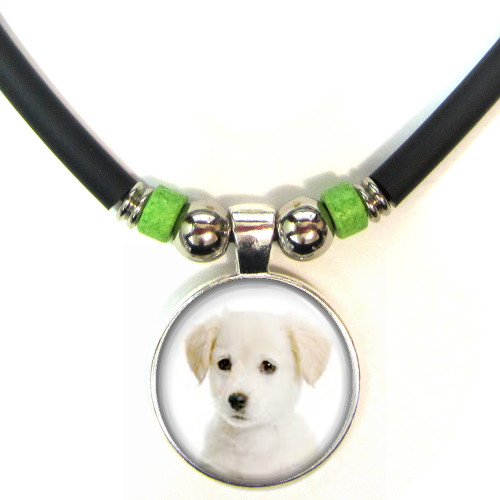 Personalized Dog 3D Glass Pendant Necklace With your dogs image