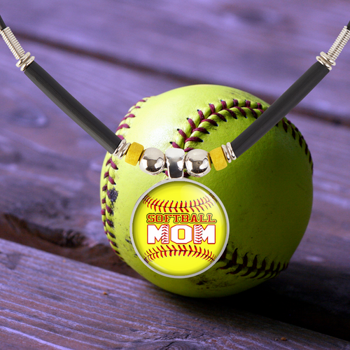 Softball Gift, Softball Mom Pendant Necklace, Softball Team Gift, Jewelry, Trophy, Medals, Favors