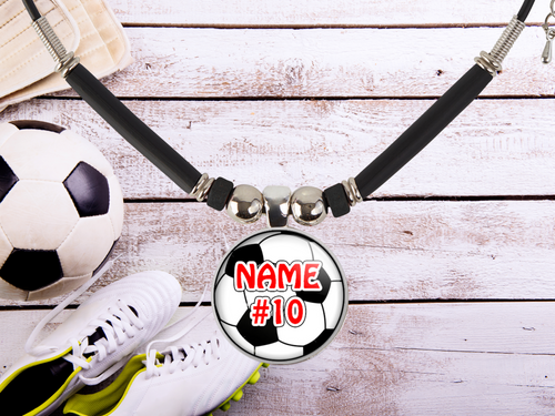 Boys and Girls Name/Number Soccer Necklace • Team Gift • Coach Gift • Personalized Soccer Ball • Soccer Charm •School Team •Soccer Mom Gift