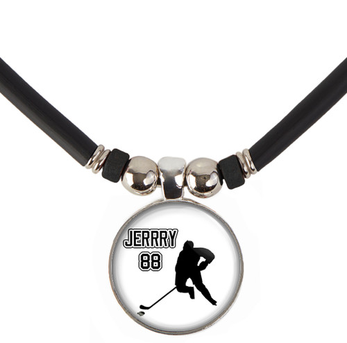customized name and number hockey necklace