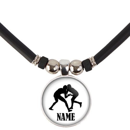 Personalized  Wrestling Necklace- Wrestling Pendant Necklace with Name-Free Customization