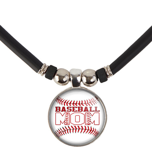 Baseball Mom Pendant Necklace