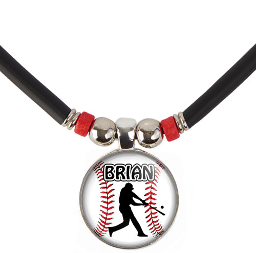 Baseball Batter Necklace With Name and/or Number, Free Shipping!