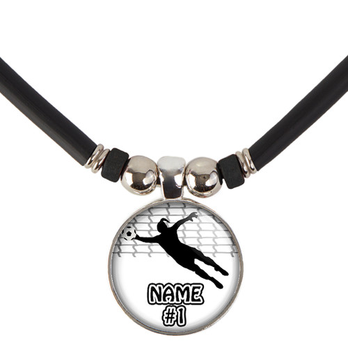 Custom Soccer Goalie Necklace With Name and/or Number, Free Shipping!