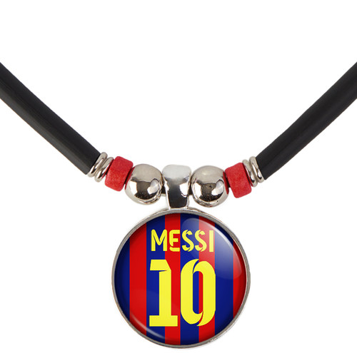 Leo Messi #10 Barcelona Home Jersey Necklace