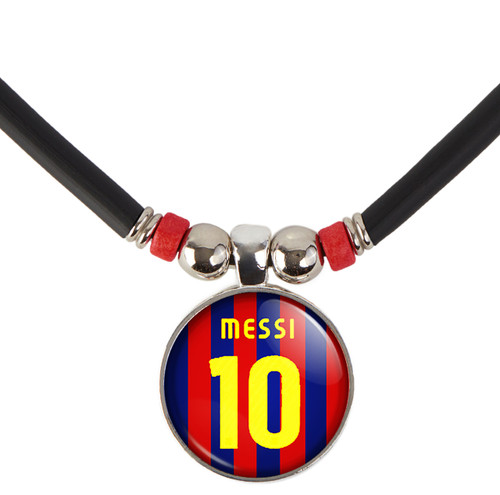 Lionel Messi #10 Barcelona Home Jersey Necklace