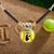 Personalized Yellow Girls Softball Catcher Name and Number Pendant Necklace
