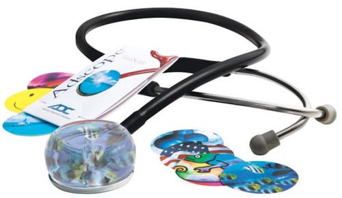 ADC Vistascope 655  Acrylic Clinician Fun Stethoscope Stethoscope Model ADC655BK Color Black