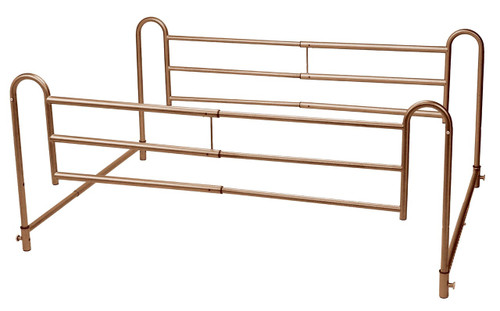 Drive Medical Tool-Free Adjustable Length Home-Style Bed Rail