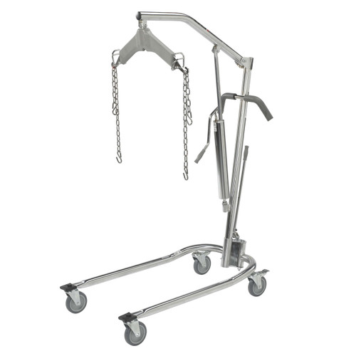 Drive Medical Hydraulic Deluxe Chrome-Plated Patient Lift
