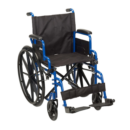 Drive Medical Blue Streak Wheelchair - Swing-away Footrests