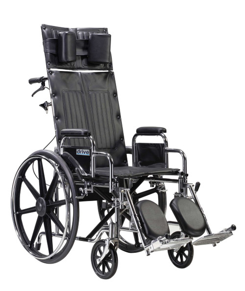 Drive Medical Deluxe Sentra Full Reclining Wheelchair (STD22RBDDA)