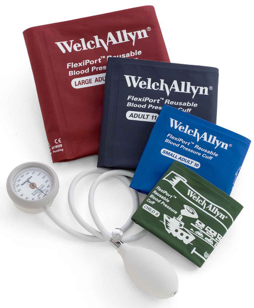 Welch Allyn Bronze Series DS44 Integrated Aneroid Sphygmomanometer Blood Pressure Moniter color coded cuffs