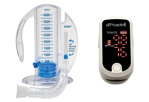 Pulse oximeter and Incentive Spirometer kit