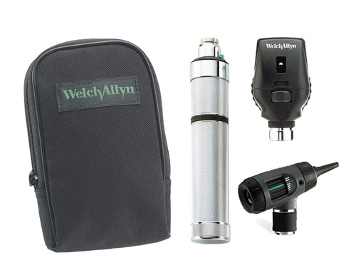 Welch Allyn Diagnostic Set, Nic-cad Handle, Macro View Soft Case - Model 97151-M