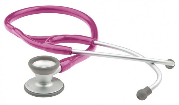 ADC Adscope 604 Pediatric Clinical Stethoscope Model 606MRS Color Metallic Raspberry