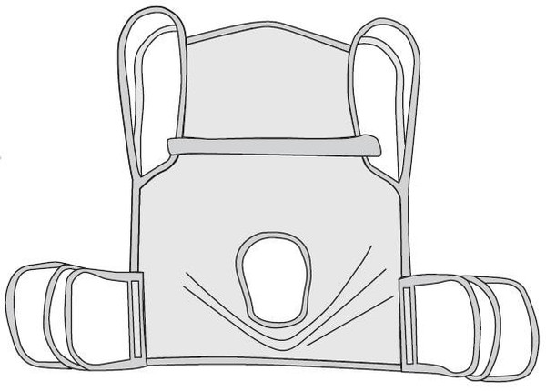 Drive Medical One Piece Sling w/Positioning Strap