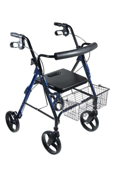 "Drive Medical D-Lite, Aluminum Rollator with Removable 8"" Casters (750NB)"