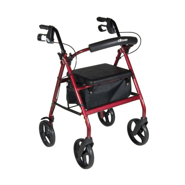 "Drive Medical Aluminum Rollator, 7.5"" Casters"