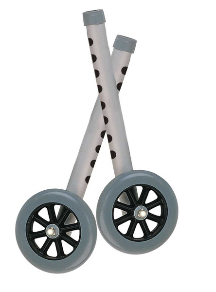 """5"""" Walker Wheels with Two Sets of Rear Glides"""