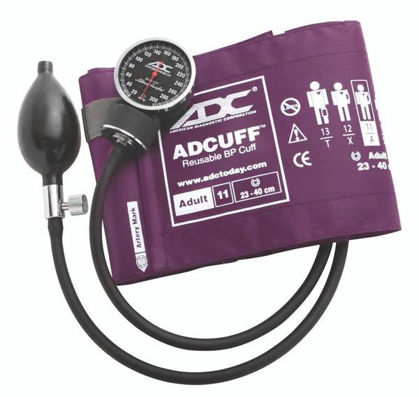 ADC Diagnostix 703 Palm Aneroid  Sphygmomanometer Model ADC720-11AV Color Purple
