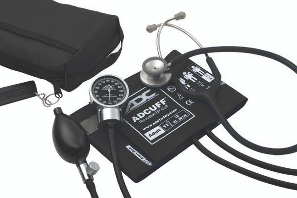 ADC Combo III Kit Pocket Aneroid  Sphg With Clinician Stethoscope Model 788-603BK Color Black