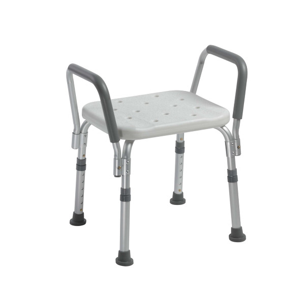 Drive Medical Shower Bench with Removable Padded Arms