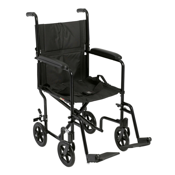 Drive Medical Aluminum Transport Chair (ATC17-BL)