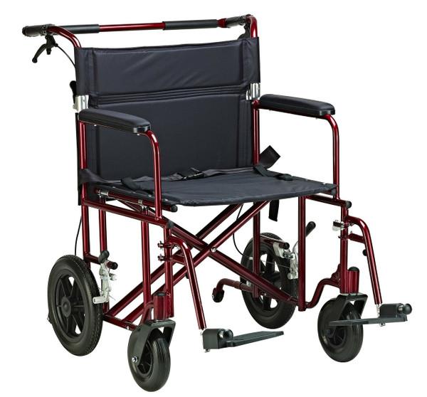 "Drive Medical 22"" Bariatric Aluminum Transport Chair"