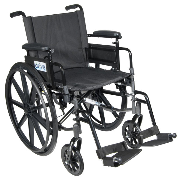 Flip-back Adjustable Height Desk Arm and Back, Swing-away Footrests