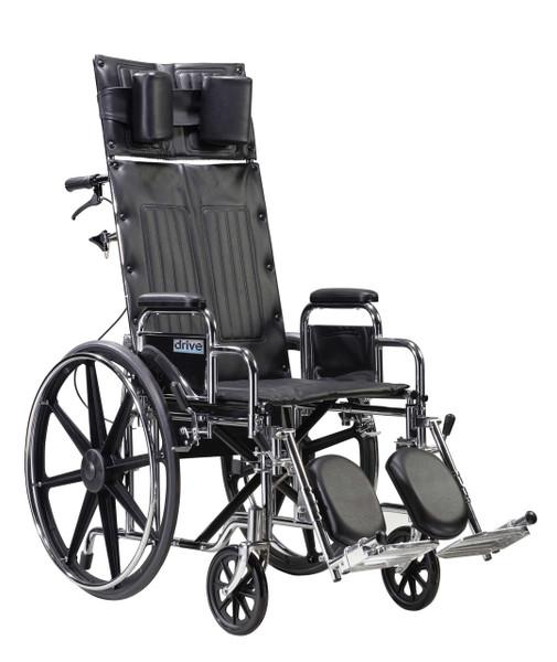 Drive Medical Deluxe Sentra Full Reclining Wheelchair (STD22RBDDA)