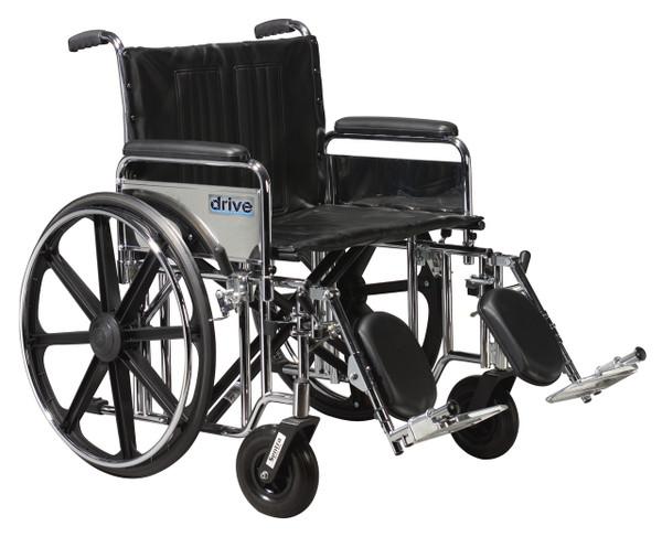 Drive Medical Bariatric Sentra Extra-Heavy-Duty Wheelchair
