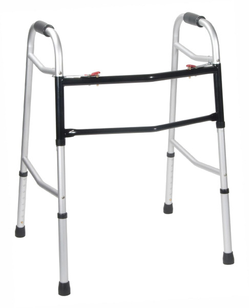 Drive Medical Bariatric, Extra Wide Deeper Frame, Folding Walker, Two Button