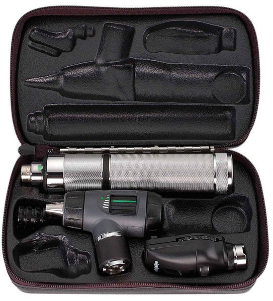 Welch Allyn Diagnostic Set, Nic-cad Handle, Macro View With Throat Illuminator, Hard Case- Model 97100-M