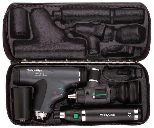 Welch Allyn Diagnostic Set, Lit-Ion Handle With PanOptic, Macro View  Hard Case - Model 97150-MPS