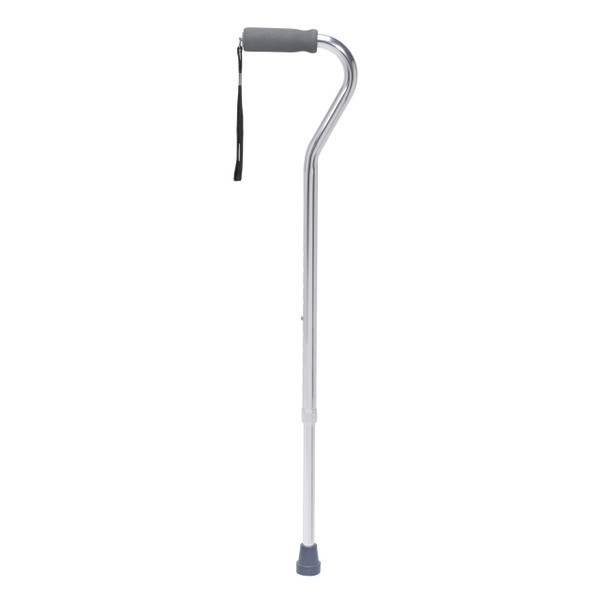 Drive Medical Offset Handle Aluminum Canes (Silver)