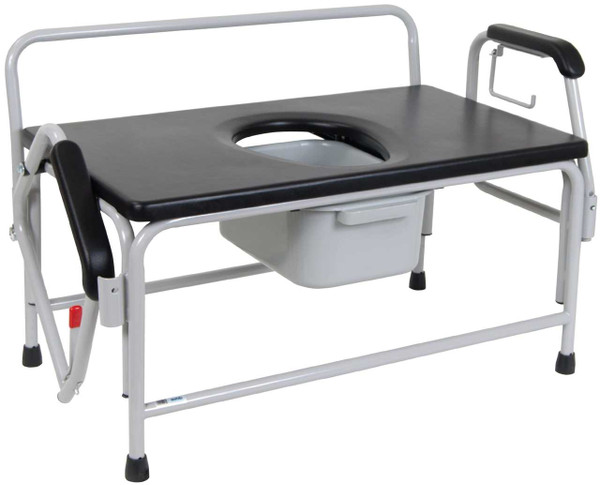 Extra-Large Bariatric Drop Arm Commode
