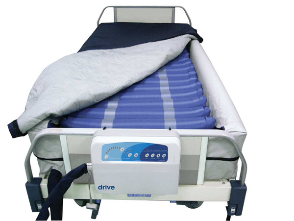 "Drive Medical Med-Aire Plus 8"" Alternating Pressure and Low Air Loss Mattress System with 10"" Defined Perimeter"