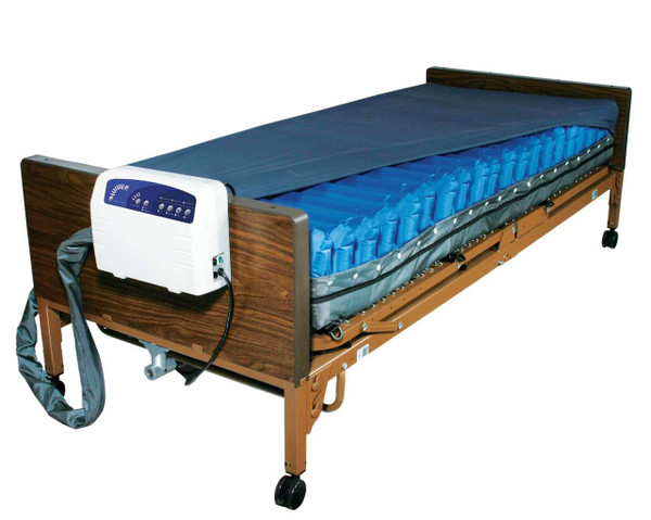 """Drive Medical Med-Aire Plus 8"""" Alternating Pressure and Low Air Loss Mattress System"""